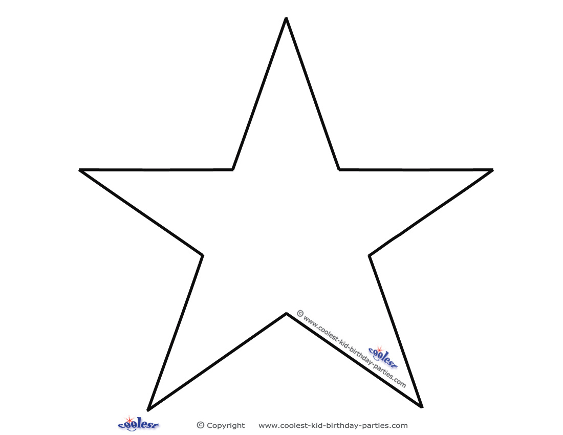 9 best images of blank star template printable blank