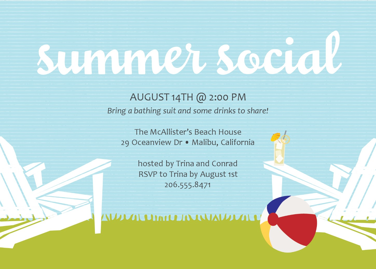 Summer Party Invitation Template – Summer Party Invitations Templates