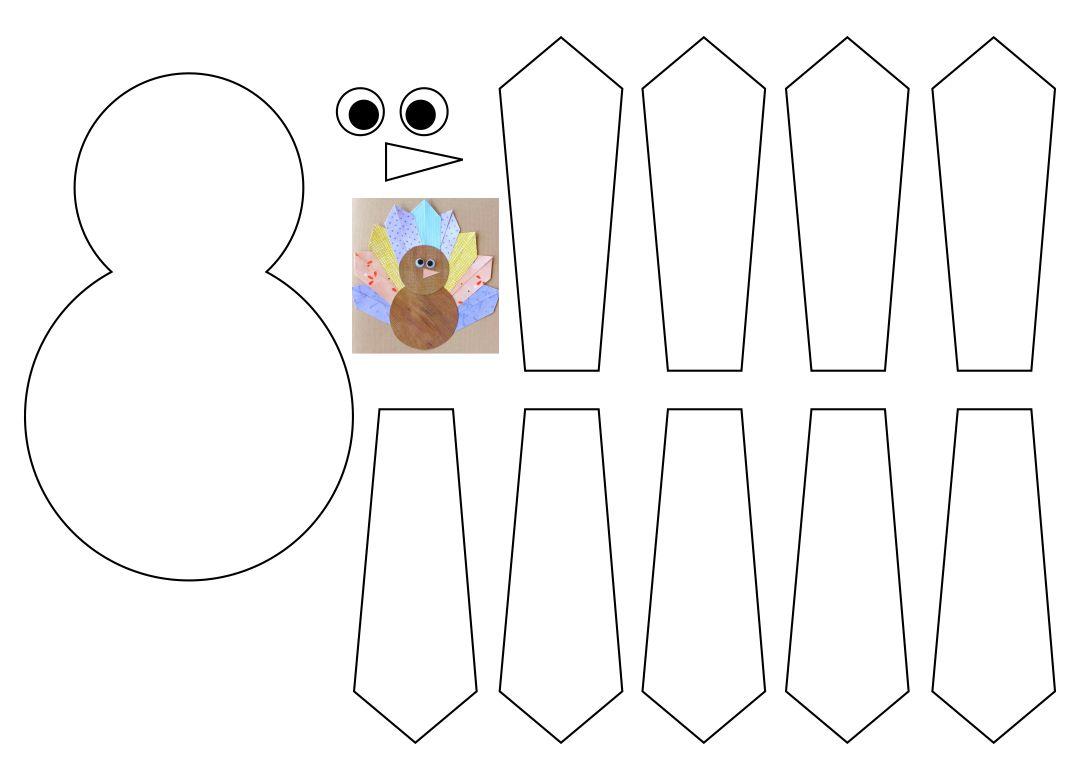 Thanksgiving Turkey Craft Construction Paper Art