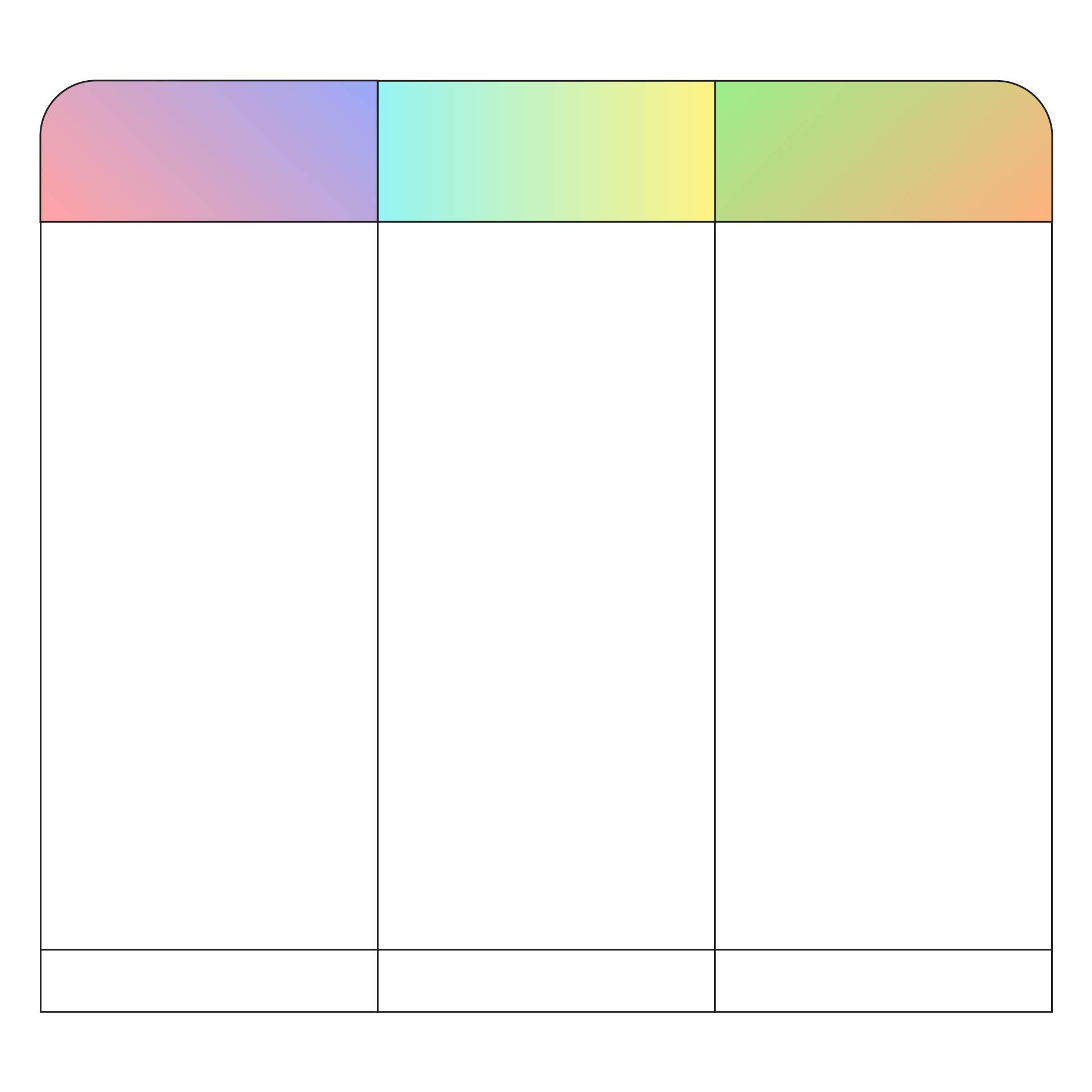 Blank Columns Templates - 4 Column Chart Template, Blank 4 Column ...