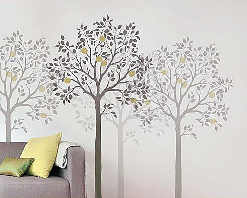 Tree Wall Stencil Designs