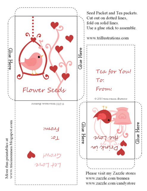 4 Images of Tea Bag Packets Free Printable