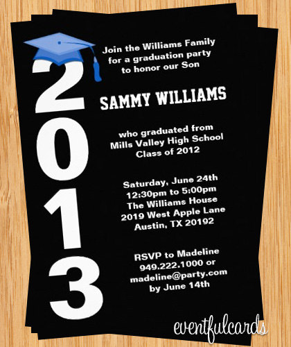 9 Images of Printable Graduation Invitations 2015 Postcard Look