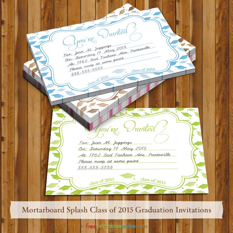 2015 Free Printable Graduation Party Invitations