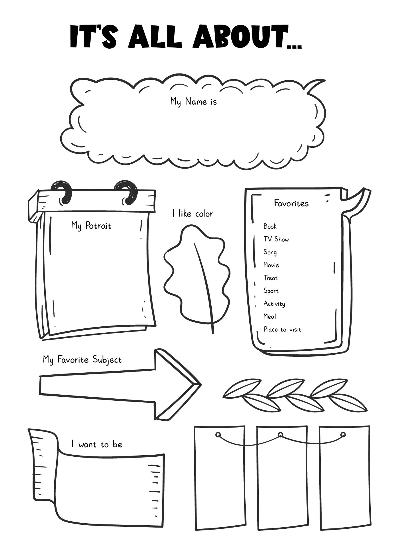 Worksheets Free Printable All About Me Worksheet all about me preschool worksheets fireyourmentor free printable 9 best images of preschool