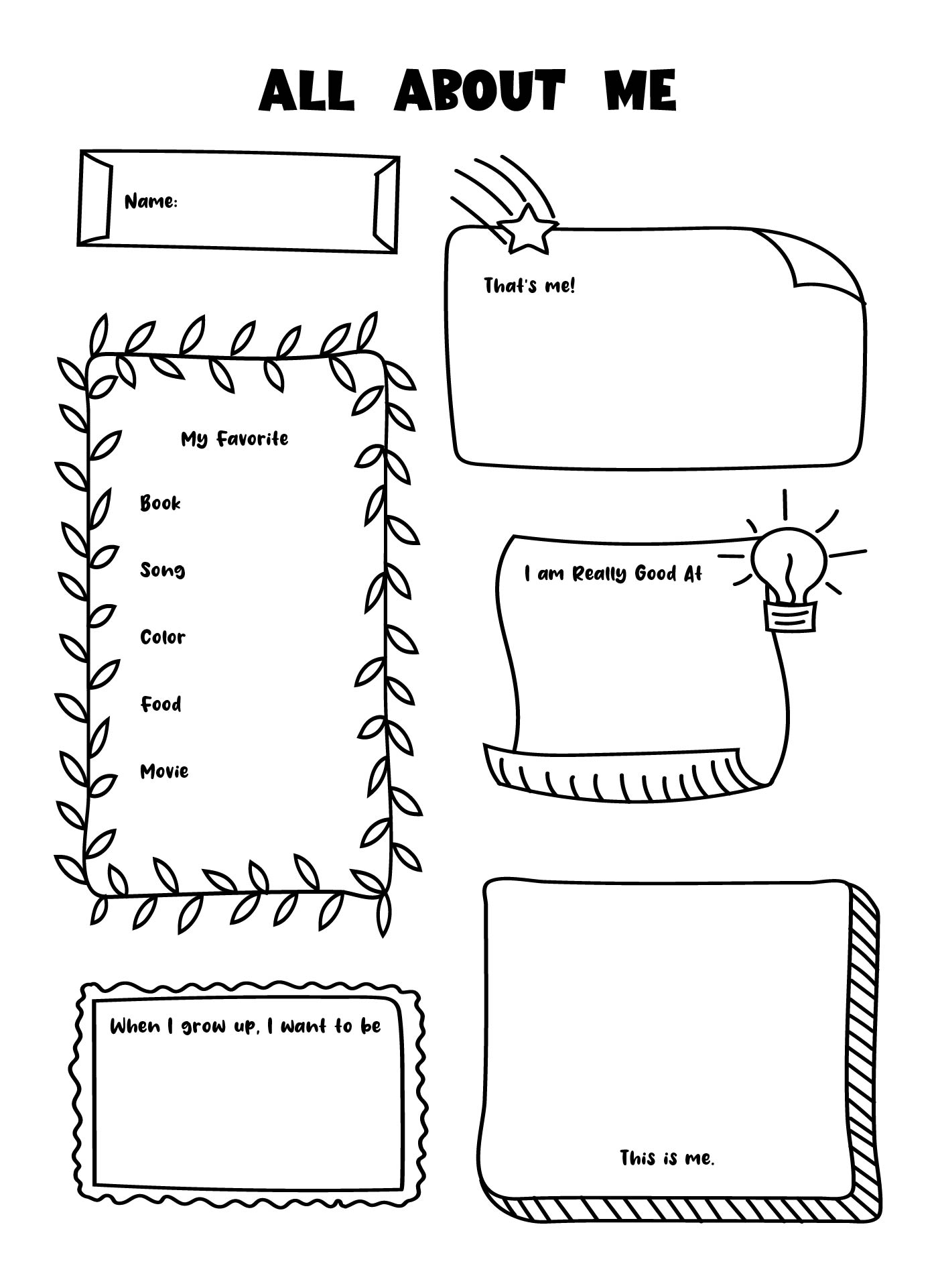 worksheet All About Me Worksheet For Adults 9 best images of printable worksheets about me all template worksheet