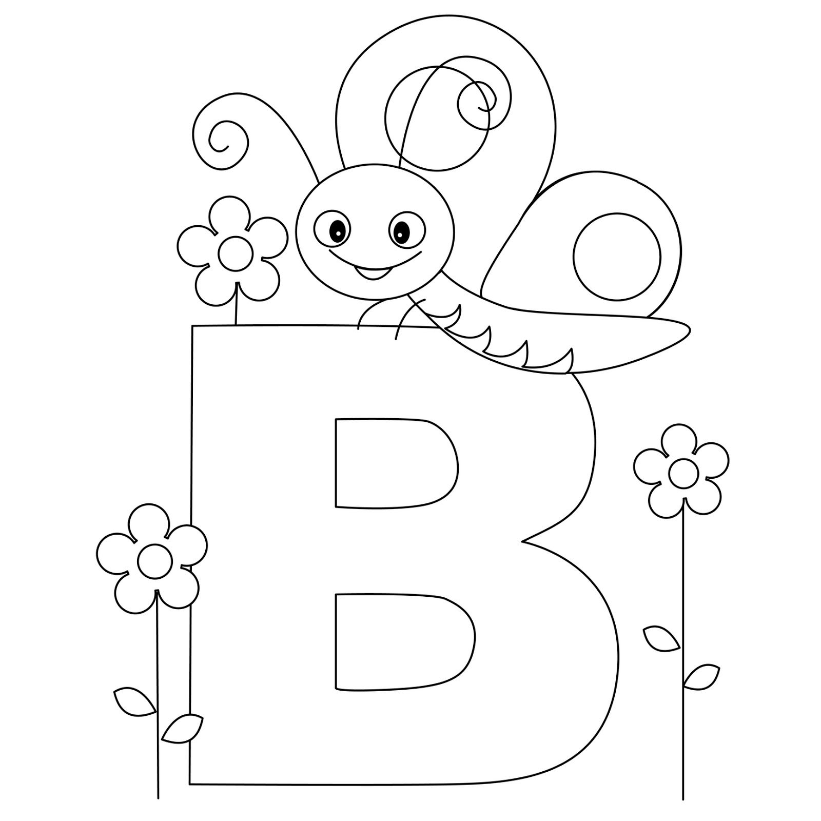5 Images of Printable B Letters Alphabet For Preschoolers