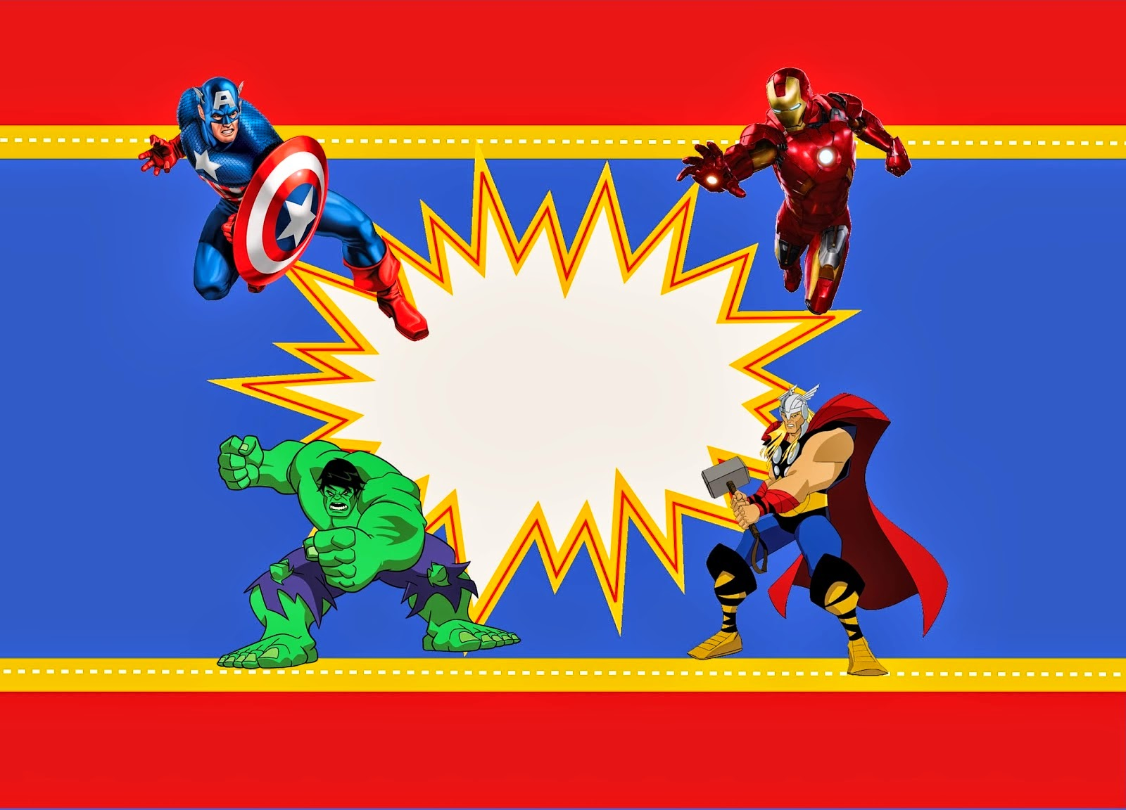 6 Images of Avengers Party Printables Free