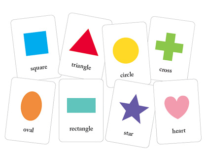 4 Images of Printable Shapes Flash Cards Toddlers