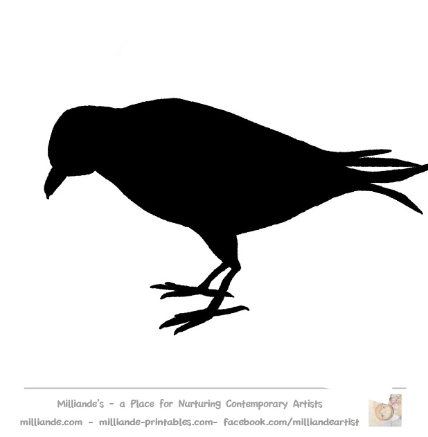 8 Images of Crow Template Printable