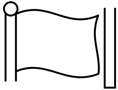 4 Images of Printable Blank Golf Flag Template