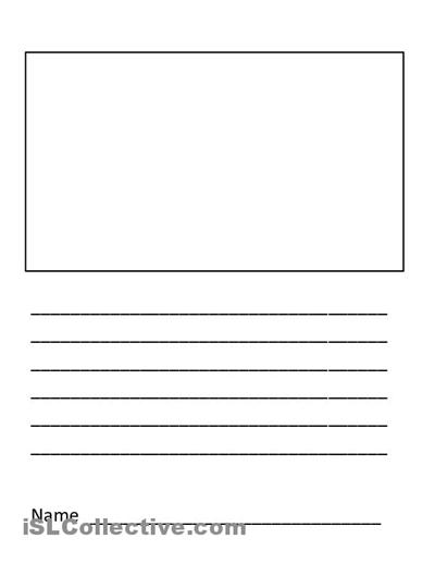 Blank handwriting sheets