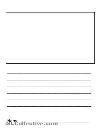 Number Names Worksheets blank handwriting worksheets for kindergarten : 5 Best Images of Blank Writing Worksheet Printable - Printable ...