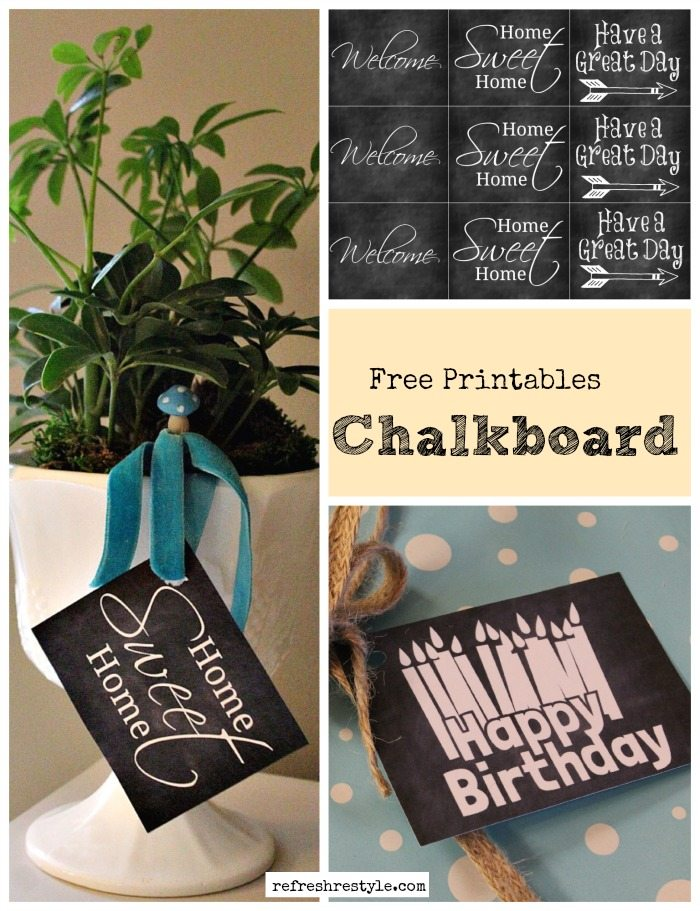Chalkboard Birthday Printable