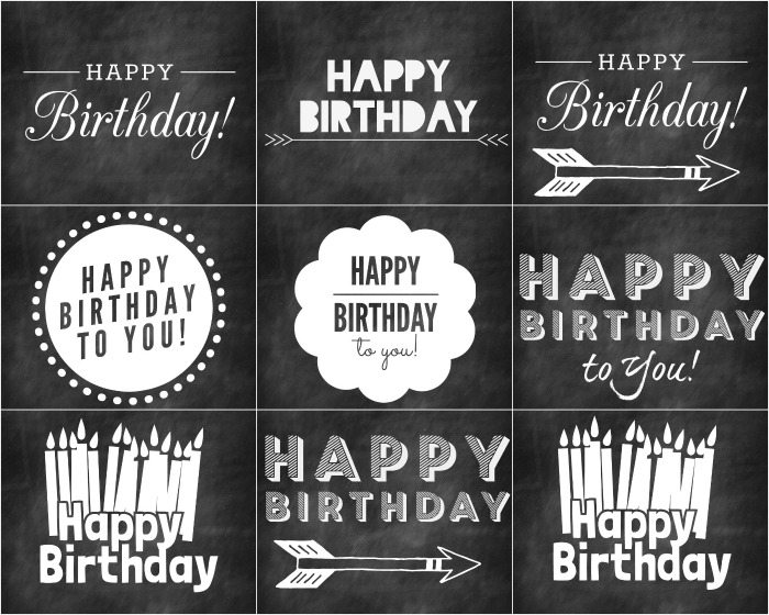 7 Images of Free Chalkboard Printables For Birthdays