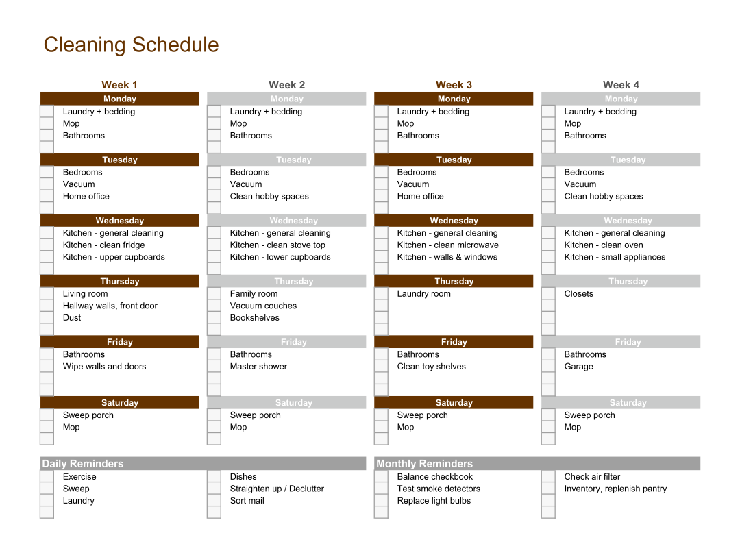 renovation work schedule template - 6 best images of bathroom schedule printable free