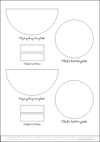 8 best images of sheet cake templates printable cake for Printable chef hat template
