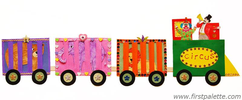 5 Images of Circus Train Printables