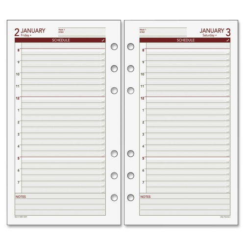 8 Images of Printable Day Runner Pages