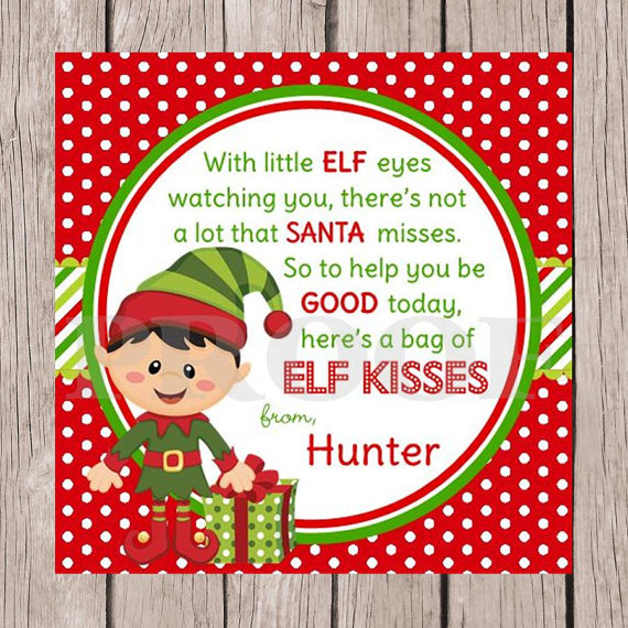 5 Images of Printable Elf Tags