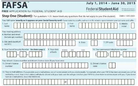 8 Images of Printable FAFSA 2015 -2016