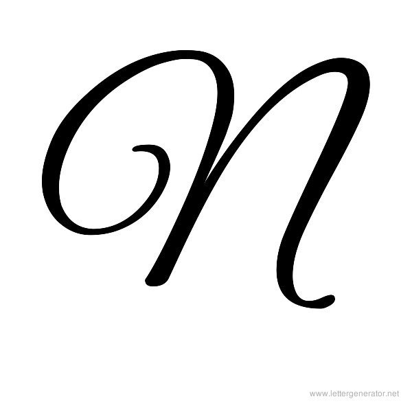 6 Images of Printable Cursive Letter N