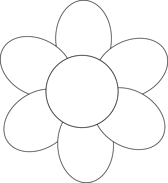 8 Images of Flower Outline Printable