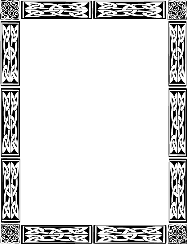 4 Images of Printable Celtic Borders