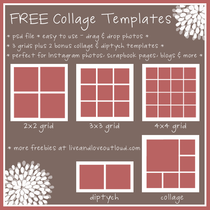 8 best images of printable collage templates free for Free online photo collage templates