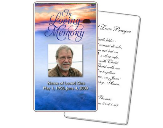 6 best images of funeral service card printable for Free funeral templates