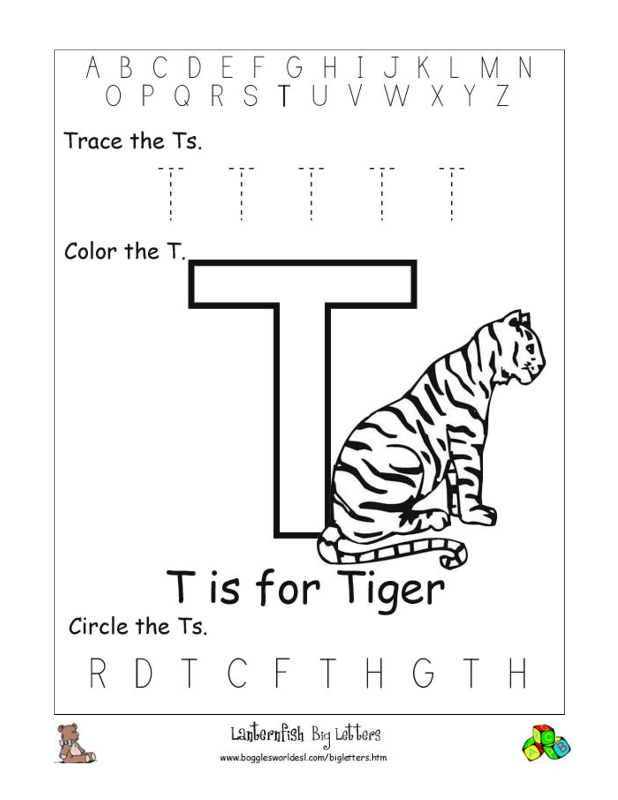 6 Best Images of Letter T Worksheets Printable - Printable Letter ...