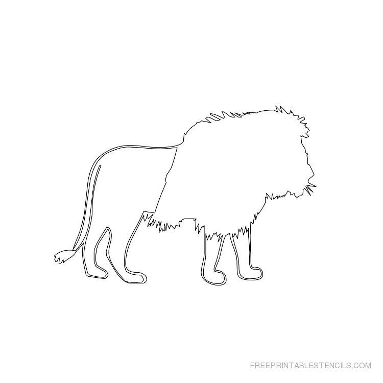 5 Images of Lion Stencils Printable