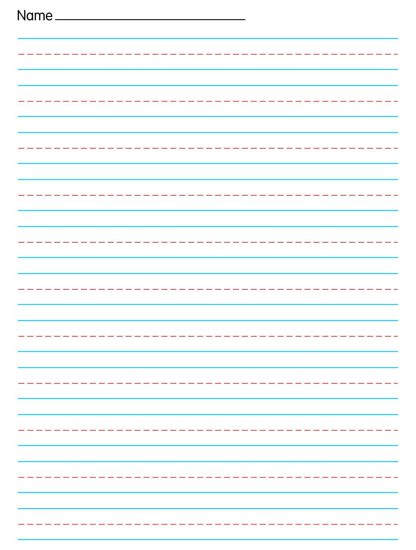 10 Best Free Printable Handwriting Paper Printablee Com