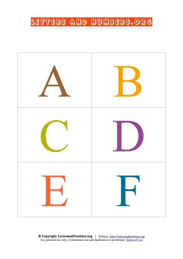 Alphabet Letters Flash Cards, Printable Uppercase Alphabet Flash Cards ...