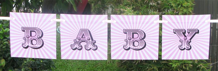 Free Printable Baby Shower Banner Girl