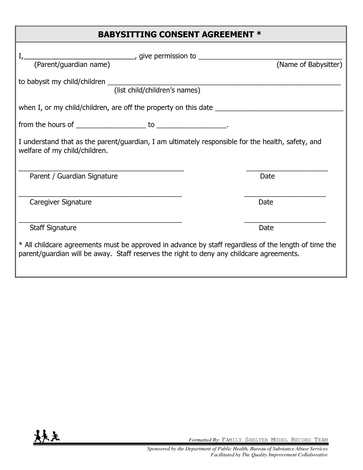 8 Best Images Of Free Printable Babysitter Consent Forms