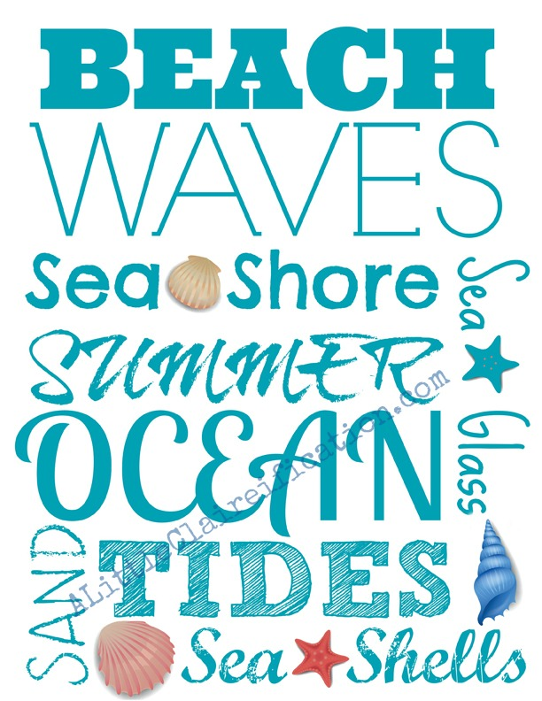 4 Images of Free Printable Beach Pictures