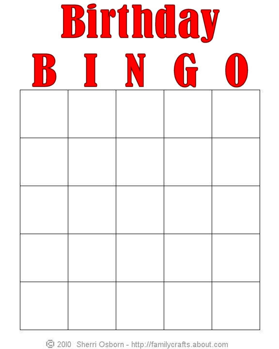 6 Images of Free Printable Birthday Bingo Cards For Kids