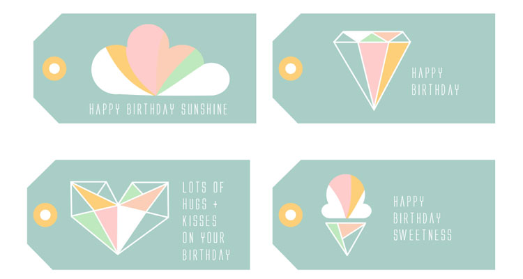 Printable Birthday Gift Tags Templates ~ Best images of birthday printable gift tags free party