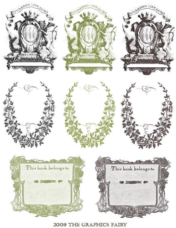 7 Images of Free Printable Vintage Bookplates