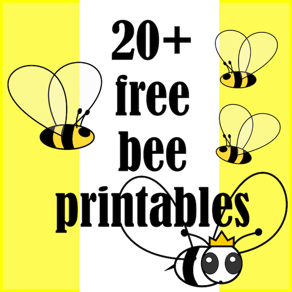 9 Images of Free Bee Printables