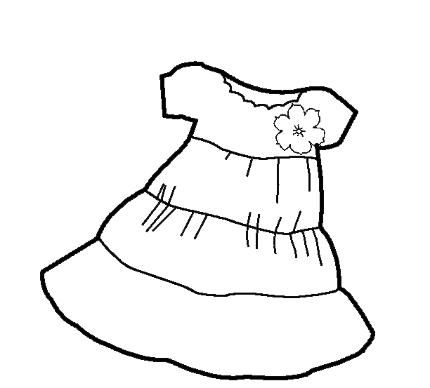 5 Images of Clothes Coloring Pages Printable