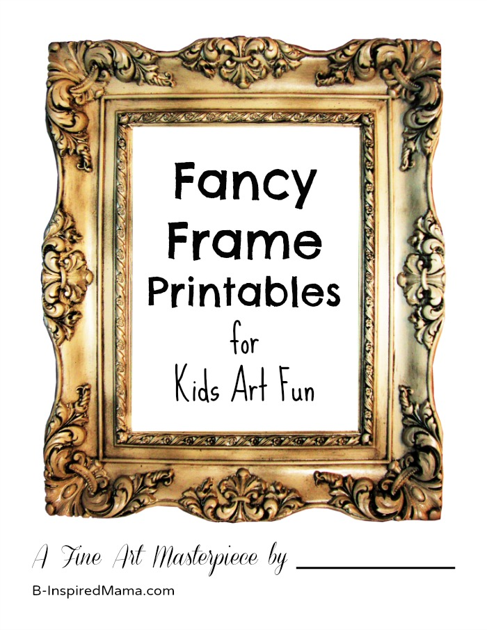 4 Images of Printable Fancy Frames