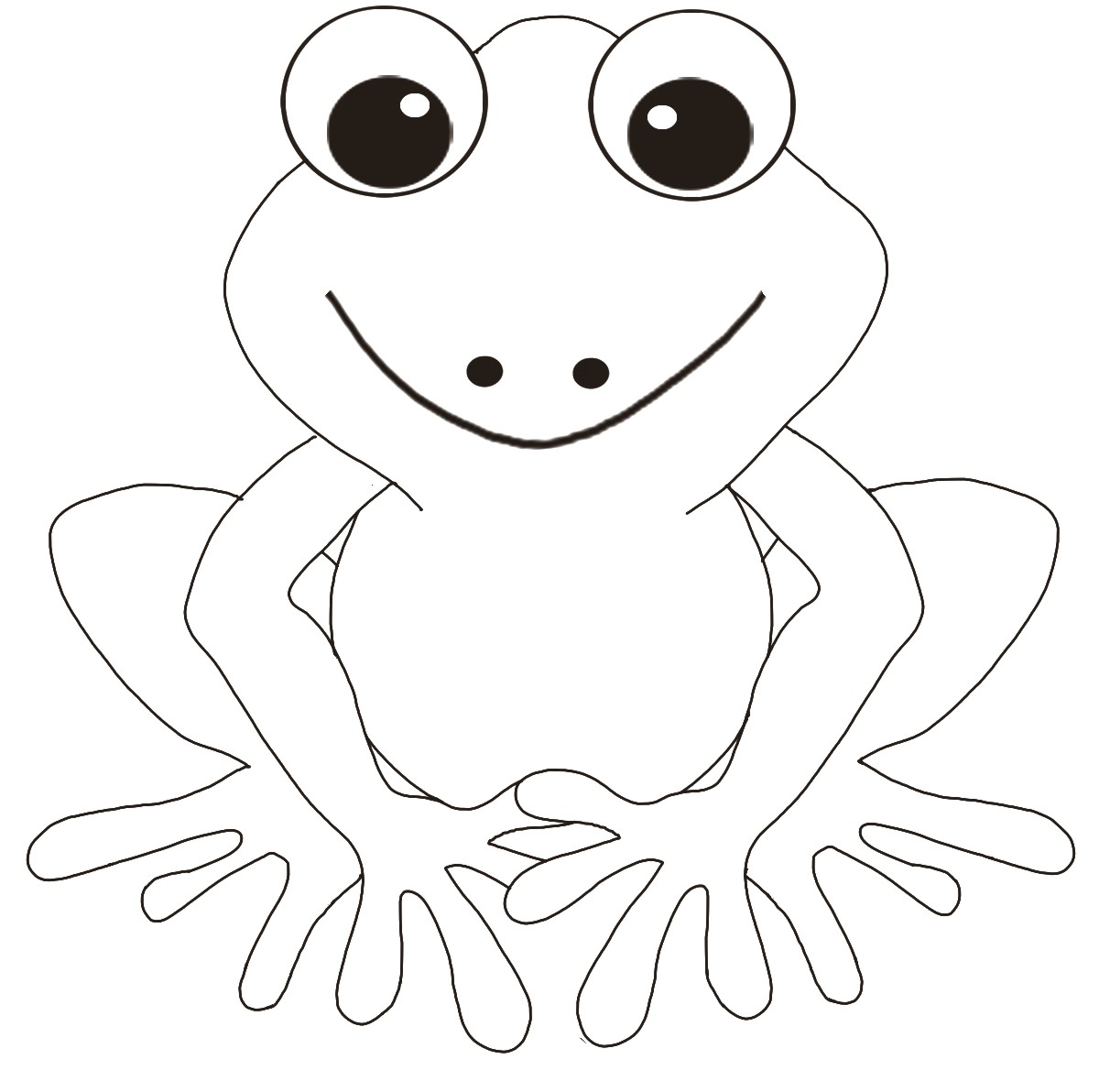 6 Images of Free Printable Frog Pattern
