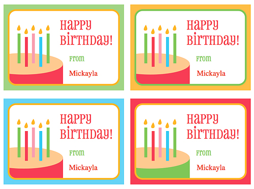 6 Images of Birthday Printable Gift Tags