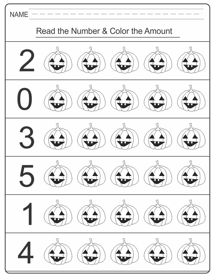 Printable Halloween Worksheets Kindergarten