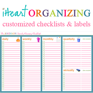 7 Images of Household Organization Printables