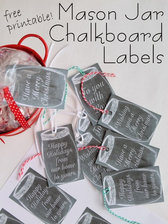 6 Images of Printable Mason Jar Chalkboard Labels