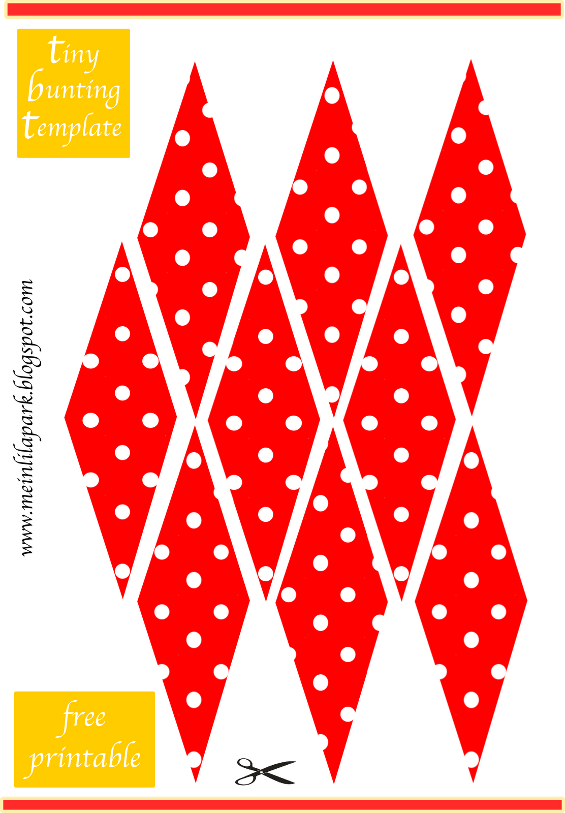 5 Images of Free Printable Mini Bunting