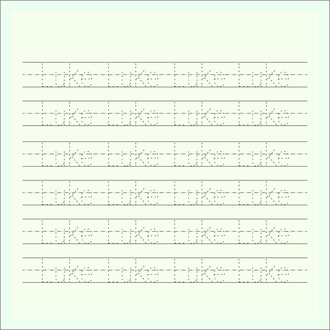 Printable Preschool Name Worksheets